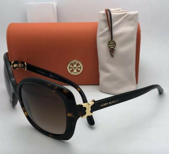 Tory Burch New TORY BURCH Sunglasses TY 7101 1377/13 Black Frame w/Brown Gradient Image 6