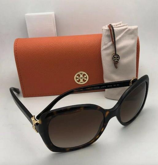 Tory Burch New TORY BURCH Sunglasses TY 7101 1377/13 Black Frame w/Brown Gradient Image 7
