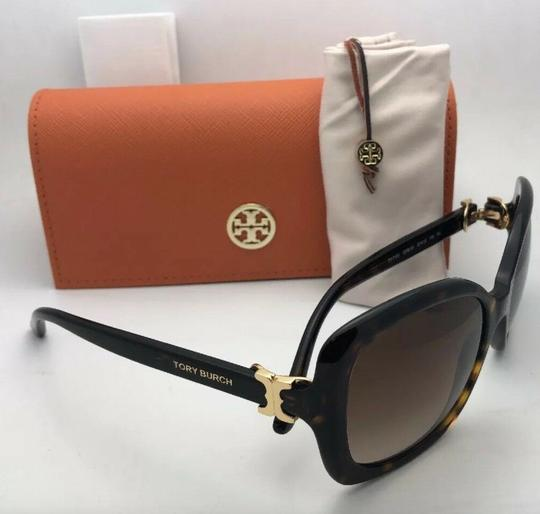 Tory Burch New TORY BURCH Sunglasses TY 7101 1377/13 Black Frame w/Brown Gradient Image 9
