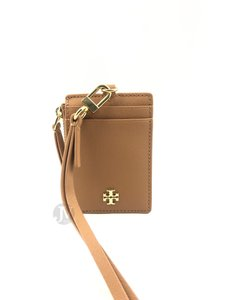 Tory Burch NEW WOMENS TORY BURCH (60305) BROWN EMERSON LEATHER LANYARD ID WALLET