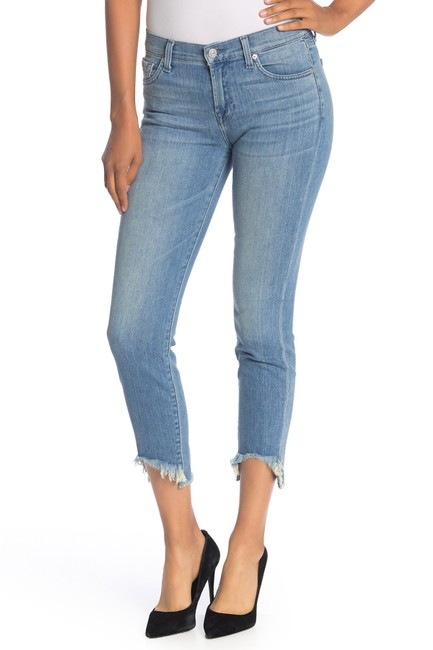 7 For All Mankind Skinny Jeans-Medium Wash Image 2