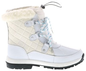 BEARPAW Sheepskin Waterproof Quilted Leather Duck blue White Boots