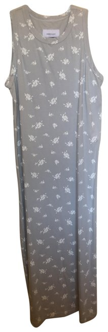 Item - Gray with White Flowers The Perfect Muscle Tee Mid-length Casual Maxi Dress Size 2 (XS)