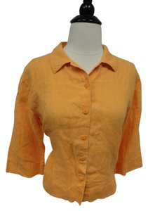 Eileen Fisher Button Down Shirt Orange