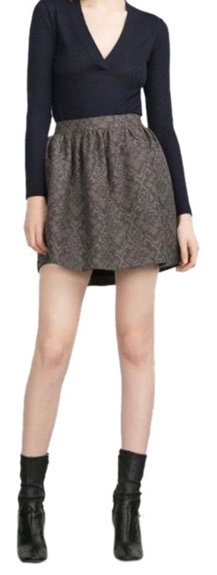 Item - Black/Taupe Skirt Size 4 (S, 27)