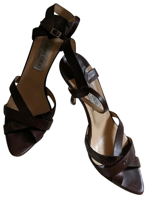 Item - Brown Pointed Toe Sandals Formal Shoes Size EU 38 (Approx. US 8) Regular (M, B)