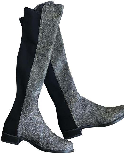 Item - Metallic Silver and Gold 5050 Boots/Booties Size US 7 Regular (M, B)
