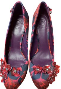 Tory Burch Red and Black Wedges