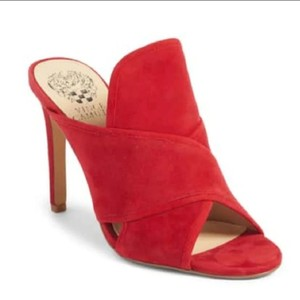 Vince Camuto Red suede Mules