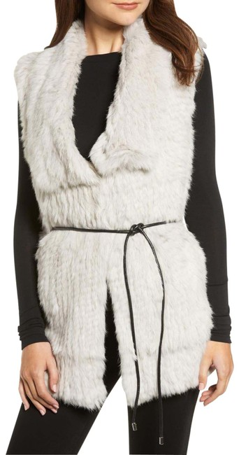 Item - Smoke Longline Genuine Rabbit Fur Vest Size 14 (L)