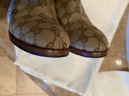 Gucci Brown Beige Boots Image 11