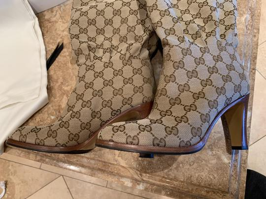 Gucci Brown Beige Boots Image 6