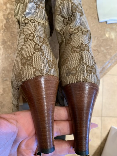 Gucci Brown Beige Boots Image 8