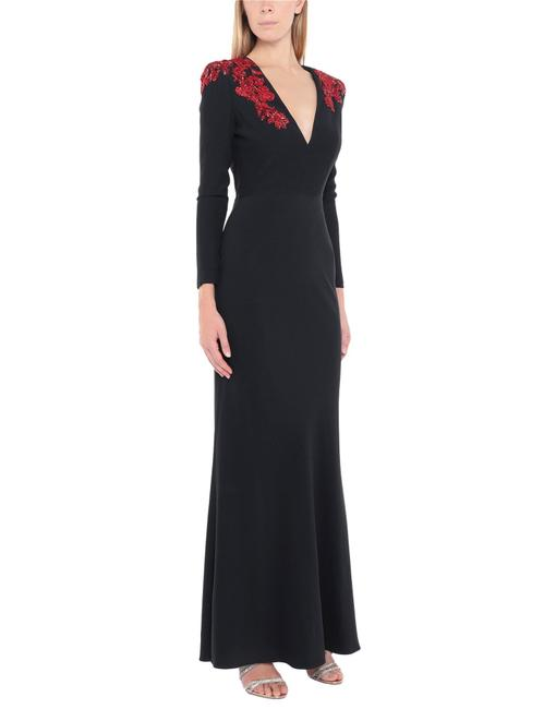 Item - Black Crepe Gown Tight It40 Long Formal Dress Size 2 (XS)