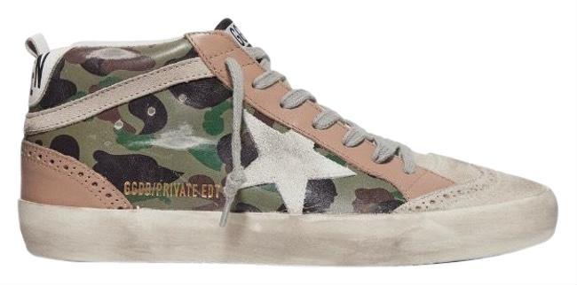 Item - Mid Star Distressed Leather Sneakers Size EU 35 (Approx. US 5) Regular (M, B)