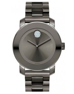 Movado Bold Stainless Steel Crystal Dot 3600103