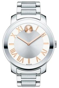Movado Bold Stainless Steel Roman Numeral Dial 3600196