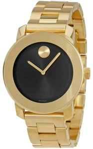 Movado Bold Stainless Steel Black Dial Unisex 3600397