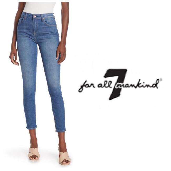 Item - Blue Distressed Gwenevere High Waist Ankle Skinny Jeans Size 30 (6, M)
