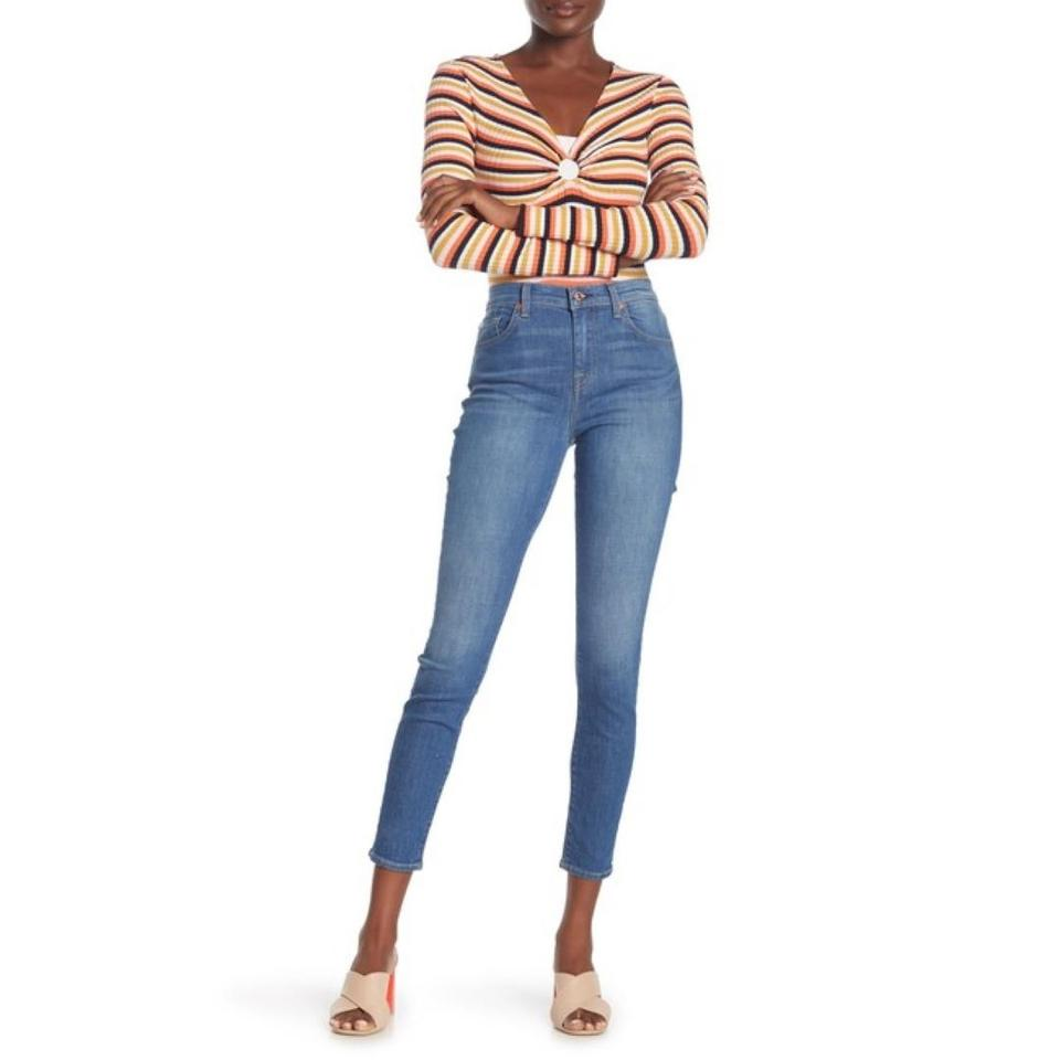 popular stores special discount of super service 7 For All Mankind Blue Distressed Gwenevere High Waist Ankle Skinny Jeans  Size 30 (6, M) 39% off retail