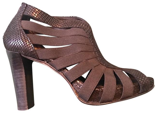 Femme Couture Black Snake Skin Heel. Made In Spain. Mules/Slides Size US 7.5 Regular (M, B) Femme Couture Black Snake Skin Heel. Made In Spain. Mules/Slides Size US 7.5 Regular (M, B) Image 1
