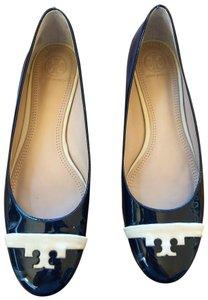 Tory Burch navy blue and cream/tan Flats