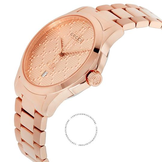 Gucci G-timeless Stainless Steel Diamante Dial Ya126482 Image 6