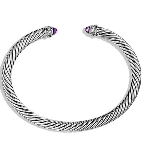 Preload https://img-static.tradesy.com/item/26139058/david-yurman-5mm-cable-classics-with-amethyst-and-diamonds-bracelet-0-1-540-540.jpg