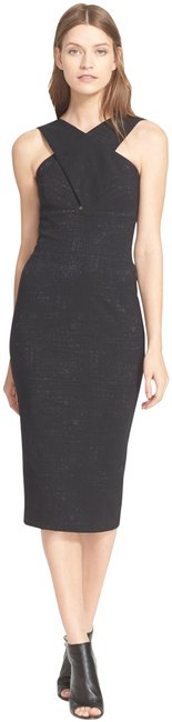 Item - Black 'chastain' Pencil Mid-length Cocktail Dress Size 0 (XS)
