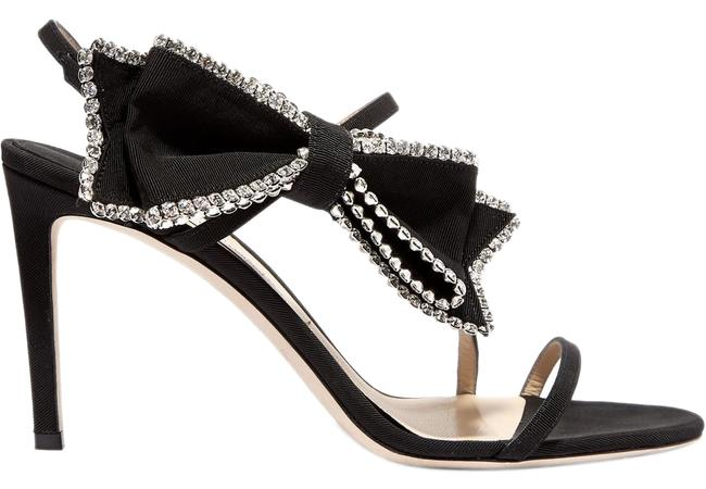 Jimmy Choo Sarara 85 Crystal-embellished Grosgrain and Suede Sandals Pumps Size EU 41 (Approx. US 11) Regular (M, B) Jimmy Choo Sarara 85 Crystal-embellished Grosgrain and Suede Sandals Pumps Size EU 41 (Approx. US 11) Regular (M, B) Image 1