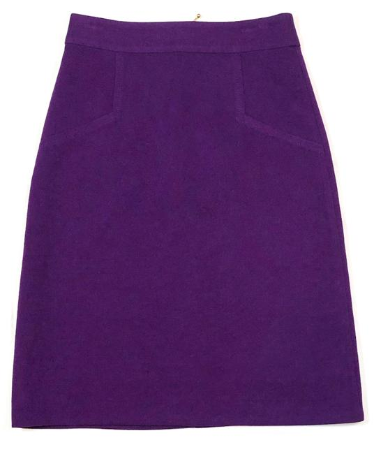 Item - Purple Exposed Zip Pencil Skirt Size 2 (XS, 26)