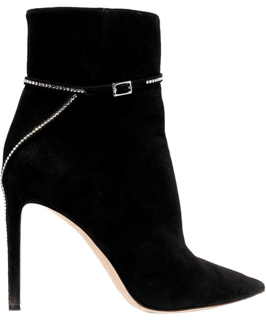 Jimmy Choo Leille 100 Crystal-embellished Suede Ankle Boots/Booties Size EU 36 (Approx. US 6) Regular (M, B) Jimmy Choo Leille 100 Crystal-embellished Suede Ankle Boots/Booties Size EU 36 (Approx. US 6) Regular (M, B) Image 1