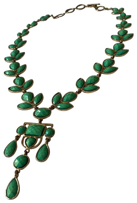 Amrita Singh Turquoise and Gold Necklace Amrita Singh Turquoise and Gold Necklace Image 1