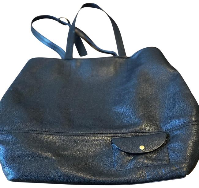 Item - All Black Leather Tote