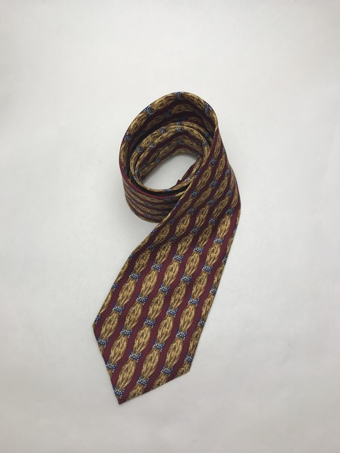 Item - Red and Yellow Christian with Scarf Print Silk Tie/Bowtie