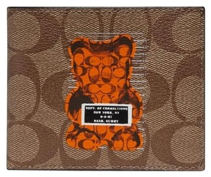 "Coach Coach Limited Edition ""Vandal Gummy"" Monogram Bifold Wallet"