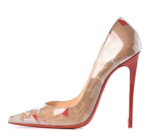 Christian Louboutin Red/Nude Pumps