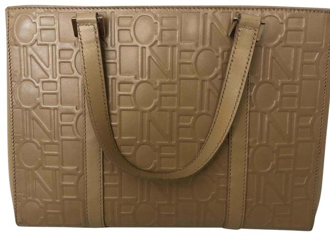 Item - Vintage Tote with Matching Wallet Beige Leather Baguette