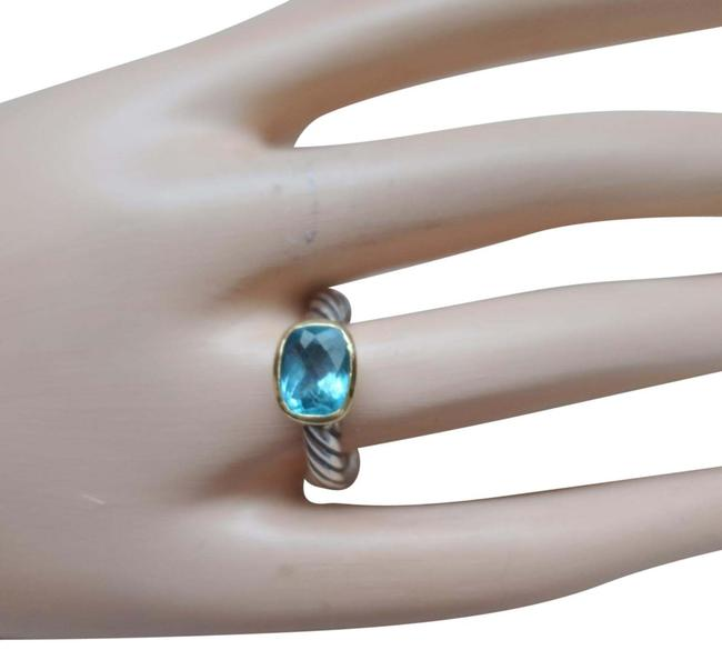 Item - Blue Petite Topaz Cable Band Ring