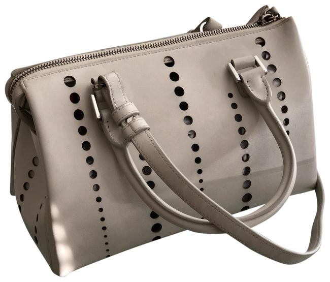 Item - Perforated 'jil' Tote White Leather Cross Body Bag