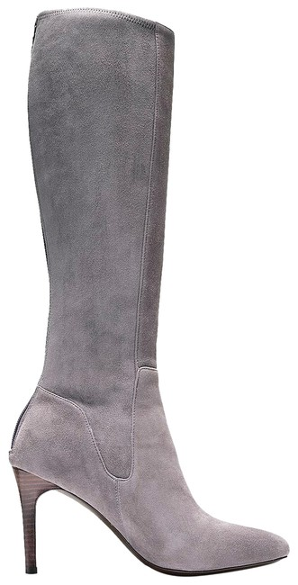 Item - Grey Narelle Stretch Suede Leather Tall Boots/Booties Size US 7 Regular (M, B)