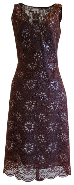 Item - Brown Lace 80734 Mid-length Night Out Dress Size 0 (XS)