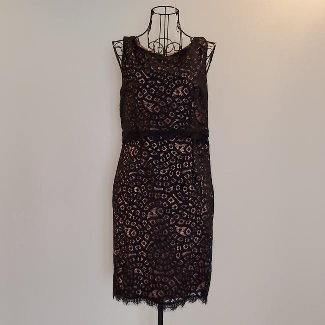 Item - Black Lace with Beige Lining. Mid-length Work/Office Dress Size 4 (S)