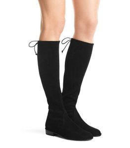 Stuart Weitzman Fall Winter Hollywood Suede Date Night Black Boots