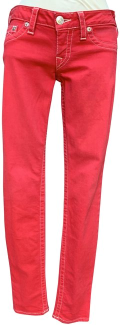 Item - Red Medium Wash Natural Skinny Jeans Size 27 (4, S)