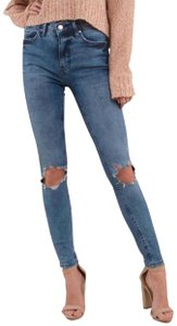 Free People Women Size 28 Size 28 Busted Knee Skinny Jeans