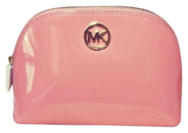 Item - Peach Gold Fulton Box Travel Pouch Jet Set Large Cosmetic Bag