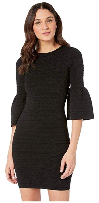 Item - Black Yansiaa Bell Sleeve Bodycon Short Cocktail Dress Size 6 (S)