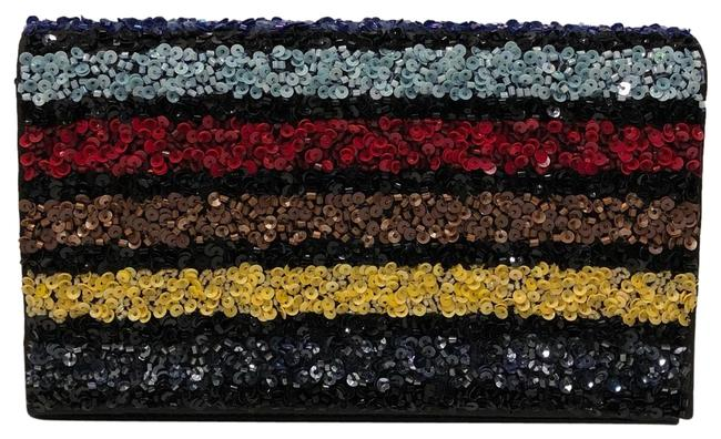 Item - New Striped Multicolor Beaded Clutch