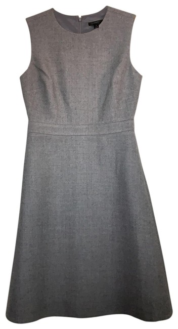 Item - Grey Heather A-line Sleeveless Double Serge Wool Mid-length Work/Office Dress Size 4 (S)
